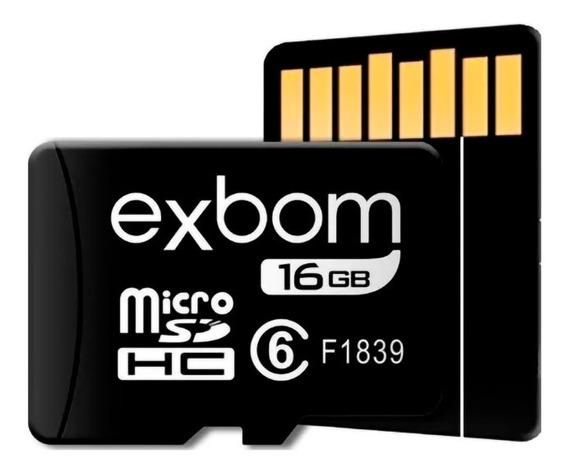 Cartão De Memória 16 Gb Micro Sd Class 6 P/celular Barato