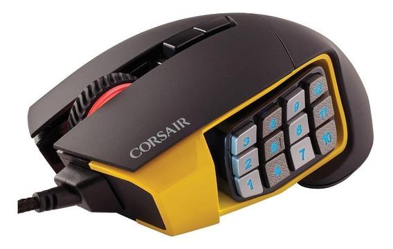 Mouse Corsair Scimitar Yellow Pro Rgb Usb Opt 1 16000 Dpi