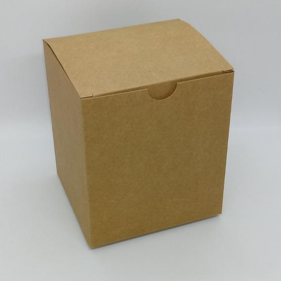 Caixa Para Caneca Kraft/branco 13c X 12 Lx 15a Kit Com 300