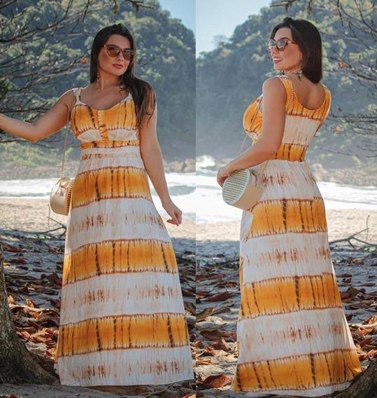 Vestido Lançamento Verão Tye Dye Bijou Na Alça