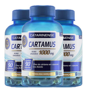 Cartamus 1000mg Kit Com 3 Un, Com 90 Caps Cada