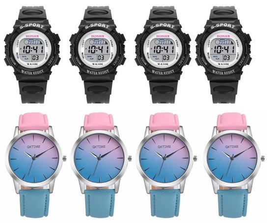Kit 4 Relógio Infantil Digital, 4 Relogio Feminino Orktime