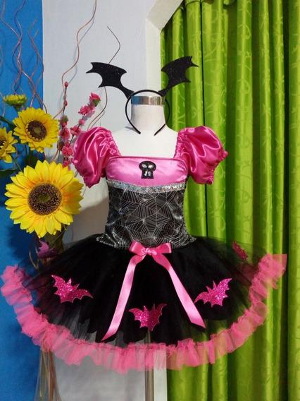 Disfraz Halloween De Vampirina 2 (fucsia) Nenas Desde 1 Año
