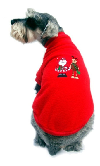 Suéter Polar Navidad Rojo Perro Bordado Talla 7 Pet Pals