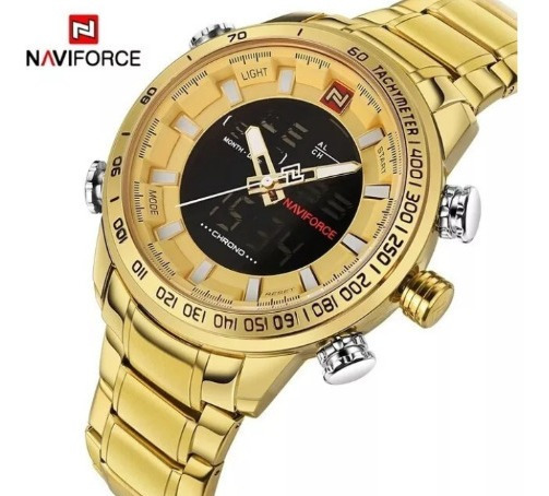 Relógio Naviforce 9093 Masculino Militar Esportivo Digital