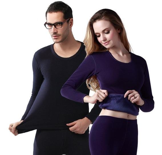 Blusa Com Calça Conjunto Térmico Peluciado Frio 0 Grau