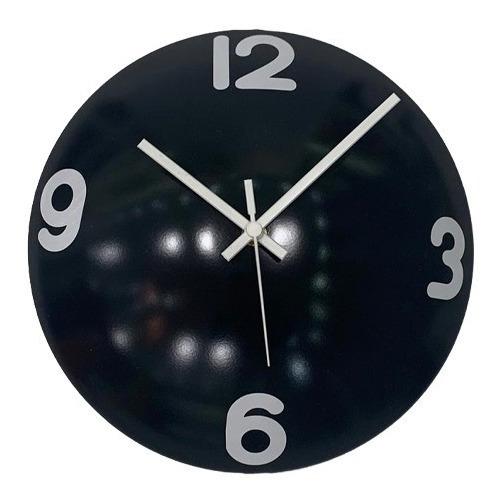 Relógio De Parede Decorativo Espelhado Cor Preto 28x28x10cm