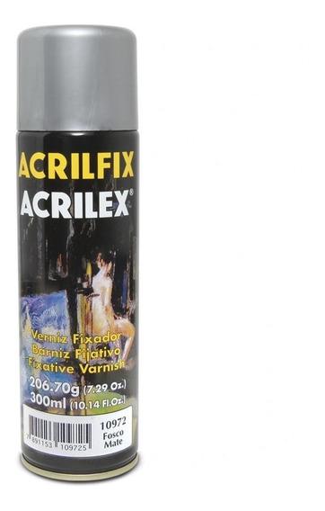 Verniz Spray Acrilex Acrilfix Fosco 300ml
