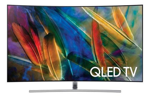 """Imagen 1 de 4 de Smart TV Samsung Series 7 QN65Q7CDMFXZA QLED curvo 4K 65"""" 110V - 120V"""