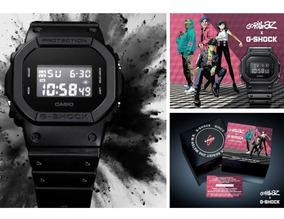 Relógio Casio G-shock Masculino Dw-5600bb-1dr Gorillaz