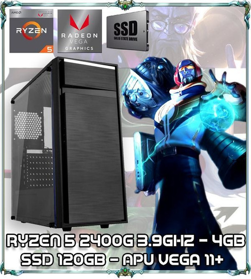 Computador Cpu Pc Gamer Ryzen 5 2400g Quad Core 3.9gz 4gb