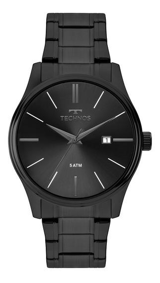 Relógio Technos Masculino Classic Steel Preto 2115mpo/4p