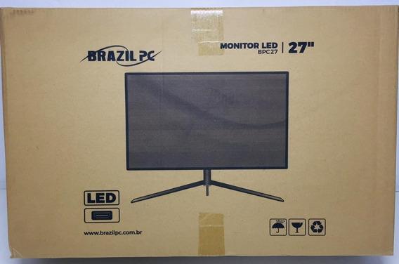 Monitor Led 27 Brazil Pc Bpc27 Full Hd Preto Gamer Led Azul