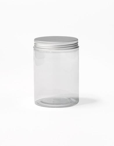 Pote Transparente Plateado (300ml)
