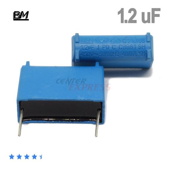 Kit Com 10 Capacitor 1.2 Uf Mf - Original