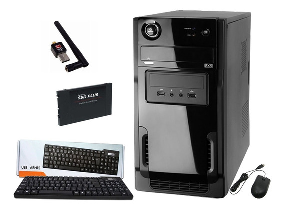 Pc Cpu Intel Core I3 3.6ghz + 8gb Ram+ Hd120gb Ssd+dvdrw