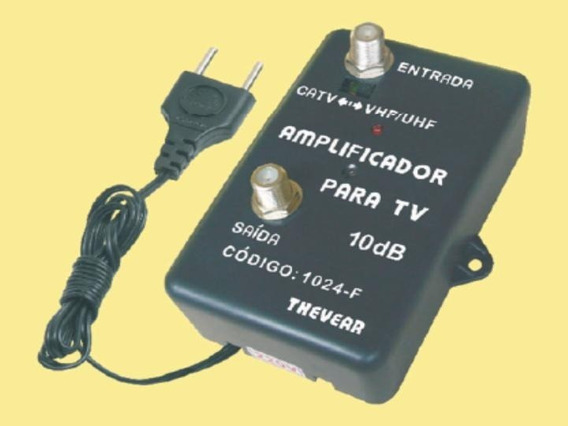 Amplificador De Sinal Antena De Tv 10db Thevear 1024-f