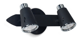 Aplique Pared Techo 2 Luces Fonix Platil Dicroica Gu10 Led