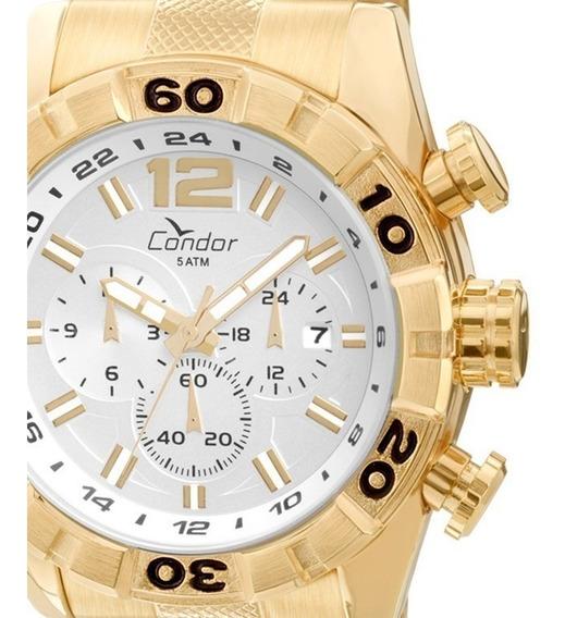Relógio Condor Masculino Dourado Covd33aa/4k Original