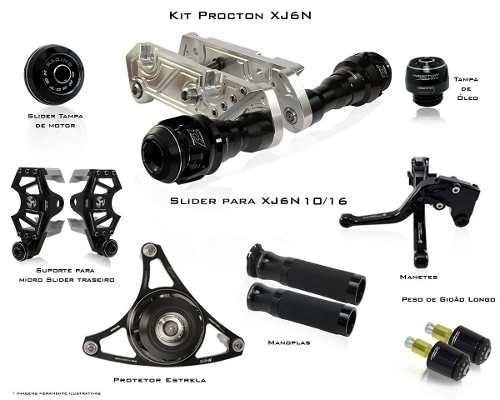 Kit De Slider F1 Procton Racing Yamaha Xj6n Xj6 N - 8 Pçs