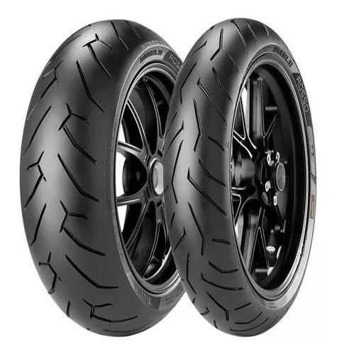 Par Pneu Diablo Rosso 2 66h Pirelli 140/70 R-17+110/70 R-17 Cb 300 Fazer 250