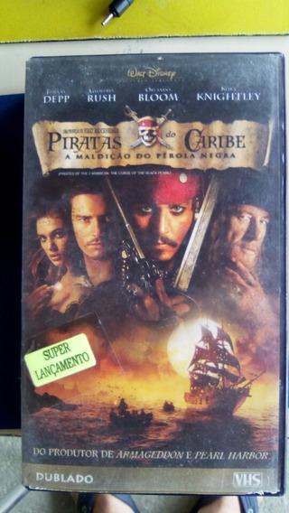 Fita Vhs Piratas Do Caribe A Maldição Do Pérola Negra