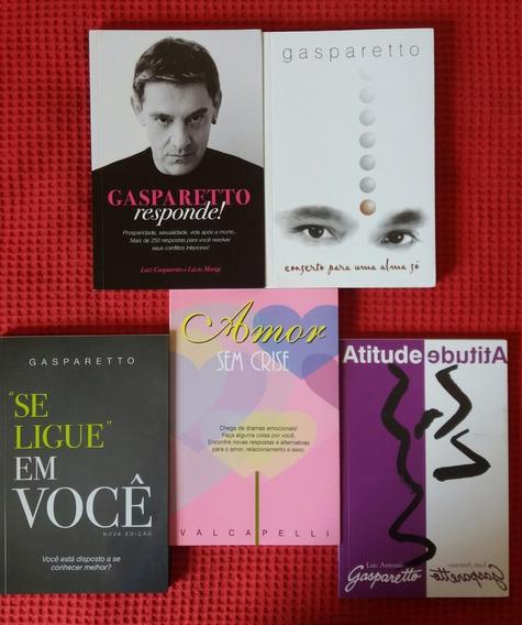 Lote Com 5 Livros Luiz Gasparetto +valcapelli Amor Sem Crise