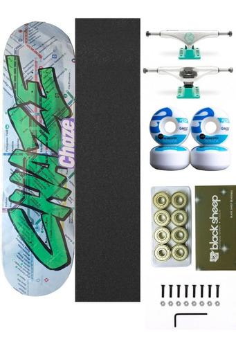 Skate Profissional Com Shaple Maple Roda Brats
