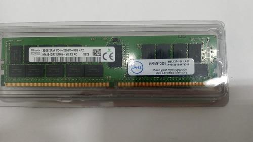 Imagem 1 de 1 de Memória Dell 32gb Ddr4 2666v Rdimm 2rx4
