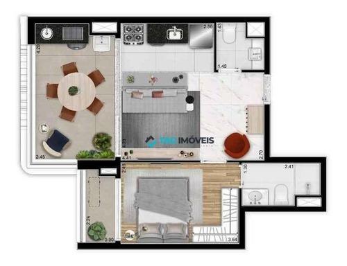 Imagem 1 de 18 de Apartamentos Para Venda Com 51,08 Metros Quadrados Em Perdizes - Sp. - Ap2680