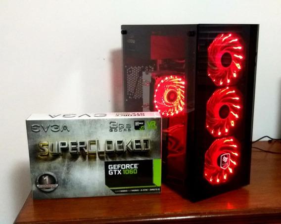 Pc Gamer Intel I3 9100f, 8gb Ddr4, Gtx 1060 + Ssd 240