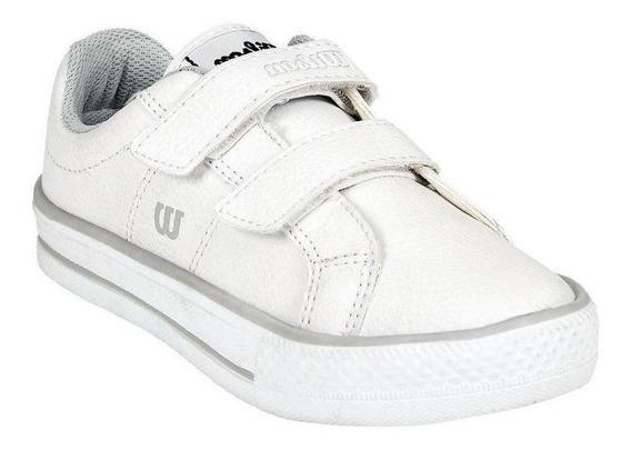 Calzado Tenis Niño Niña Blanco Escolar Comodo Casual Deporti