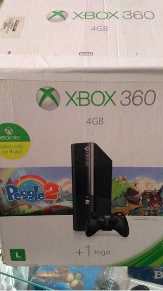 Xbox 360 Semi Novo Com 4 Jogos Novos