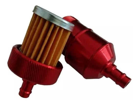 Filtro De Combustível Moto Esportivo Dourado Vermelho Preto