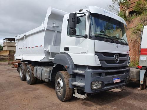 Mercedes-benz Axor 3344 6x4 Ano 2013 Basculante Traçado