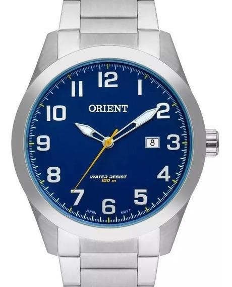 Relógio Orient Masculino Fundo Azul - Mbss1360 D2sx