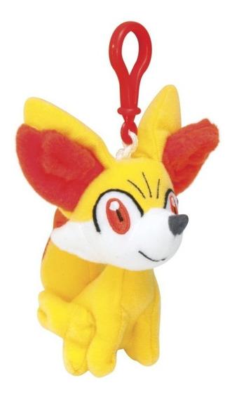 Chaveiro Pelúcia Pokémon Fennekin Original Tomy