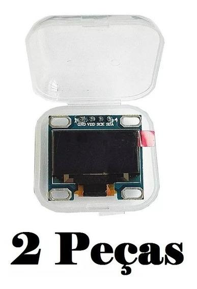 Display Oled Lcd Arduino Led 0.96 128x64 I2c Branco 2 Peças
