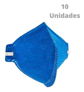 Kit C/ 10 Máscara Proteção Respirador Pff2 N95 C.a Inmetro