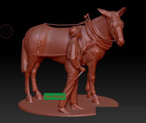 Vetor Modelo Relevo Stl Artcam Para Cnc Cavalo