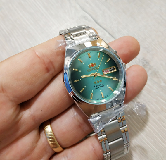 Orient Fundo Verde Automatico 21jewels 3 Estrelas 2 Chaves