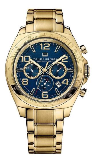 Relógio Tommy Hilfiger Th1790938 Orig Chr Anal Gold Blue