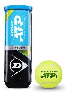 Tubo De Pelotas Dunlop Atp - Modelo Oficial Atp Tour