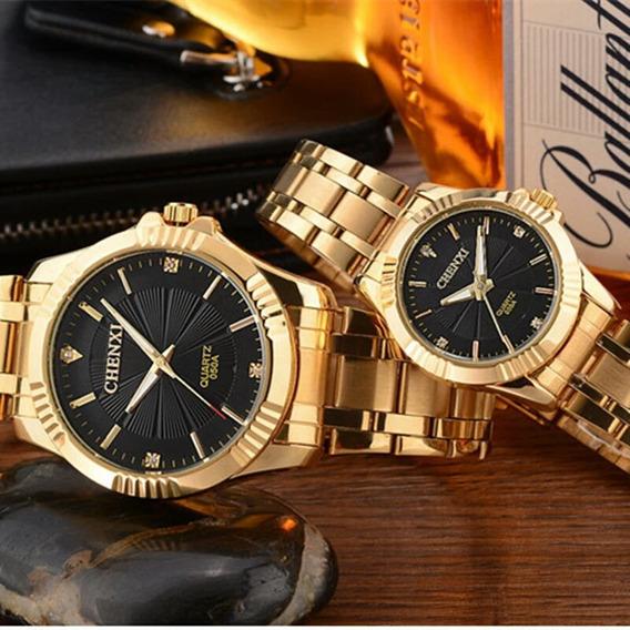 Relógio De Pulso Feminino Chenxi Dourado Luxo