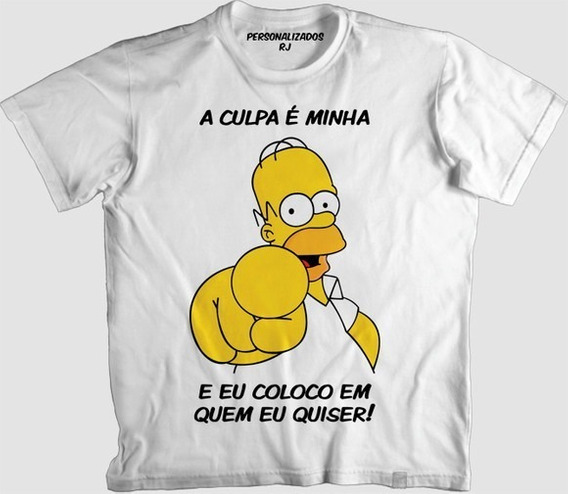 Camisa Personalizada- The Simpsons, Frases Homer