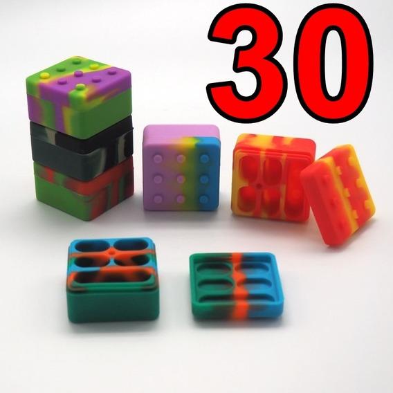 Pack 30x Oil Slick Silicone 26 Ml 5 Divisórias Lego Dab Bho