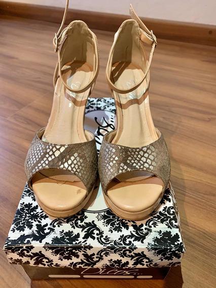 Zapatos De Cuero Nude