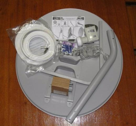 Antena Mini Parab. Banda Ku 75cm Lnb Duplo 20m Cabo Cx 4und