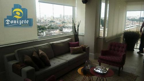 Cobertura Com 3 Dormitórios À Venda, 238 M² Por R$ 1.590.000,00 - Centro - Santo André/sp - Co1346