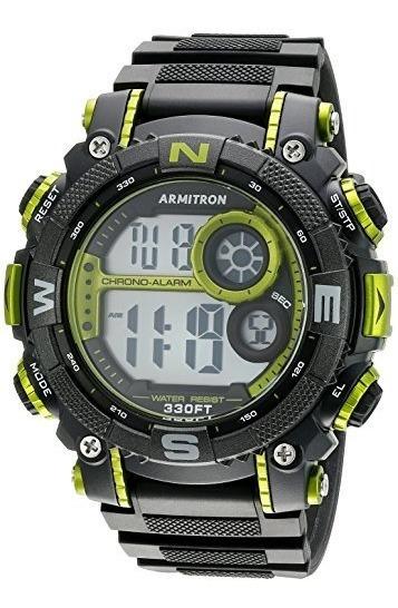 Armitron Sport 40 Reloj Digital Con Brazalete De Resina Neg